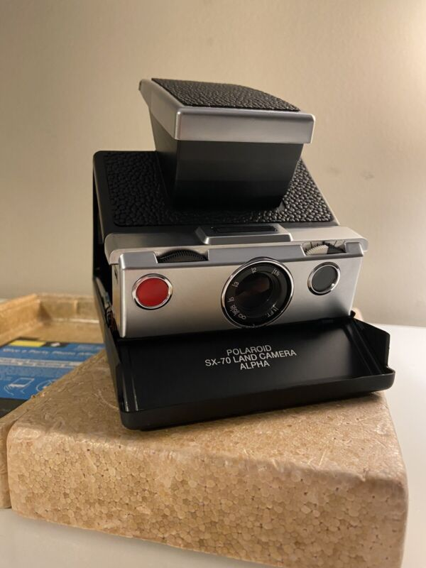 Vintage Polaroid SX-70  Camera Alpha New Leather - Mechanically Tested - Working