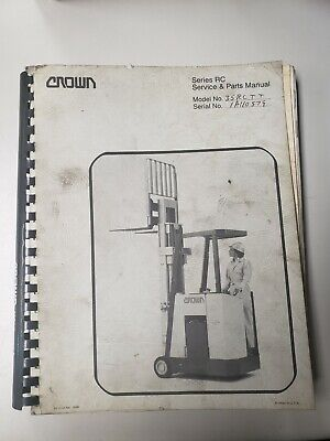 Crown Forklift Rc Series Service And Parts Manual