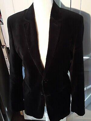 Mossimo Classic Black Velvet Two Button Blazer Jacket Size SP  Black Velvet Blazer Jacket