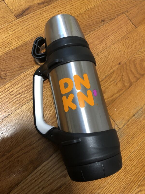 Dunkin Donuts Stainless Steel 32oz Hot Cold Travel Mug / Thermos, Coffee & Tea