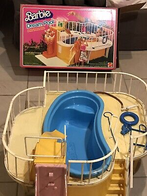 Vintage 1980 Barbie Dream Pool With Slide Used Good Condition Classic RARE