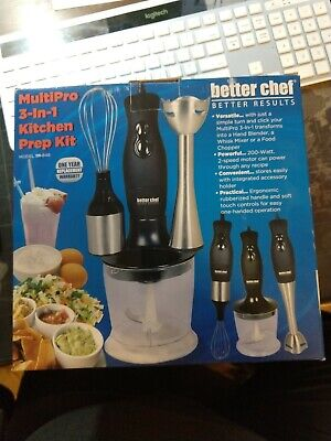 Better Chef Multi-Pro 3 in 1 Kitchen Prep food processor whisk and blender