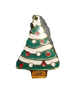 WALLACE Silversmiths Christmas Tree Ornament in Solid Pewter Hand Painted Painted Pewter Ornament