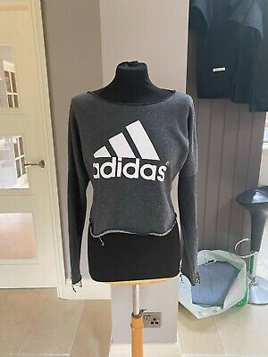 Adidas Cropped Womens Jumper. Grey. Lightly used, without tags. Size M