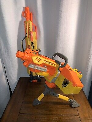 Nerf N-Strike Vulcan and Stampede with Tripod, Ammo Belt and Ammo Box