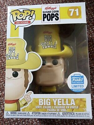 """Funko Pop 71 """"BIG YELLA"""" Kellogg's Sugar Corn Funko-Shop Limited Edition"""