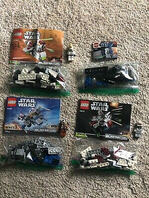 LEGO Star Wars Lot Sets 8028 75072 75076 75125 COMPLETE w/ Minifigs & Manuals