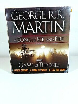 GEORGE R.R. MARTIN~A Song Of Ice&Fire BOX SET OF 4 PB/GAME OF THRONES BKS 1-4!!!