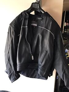 Men's leather motorcycle jacket - RJays size 50 with removable insert Castle Hill The Hills District Preview