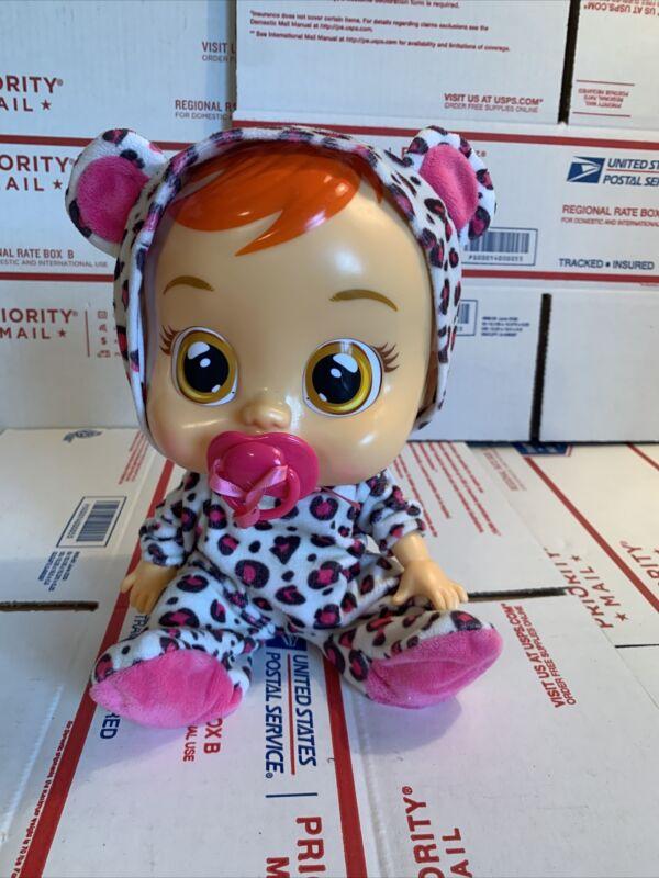 IMC Toys Magic Tears CRY BABIES Baby Doll Cheetah LEA Pacifier Cries Tears