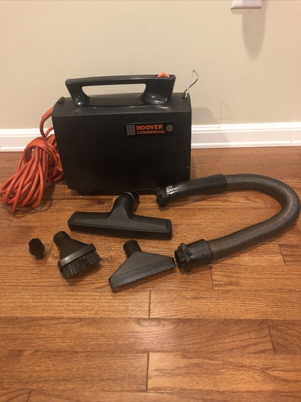 Hoover Commercial C2094 Portable Canister Vacuum Cleaner w/ Hose & 3 Attachments