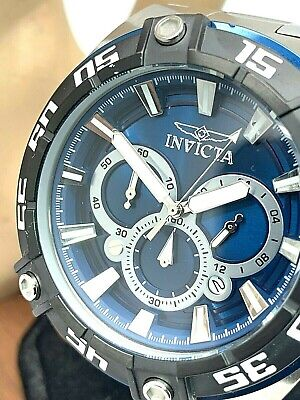 Invicta Mens Watch 30652 Coalition Forces Blue Dial Stainless Steel Chronograph
