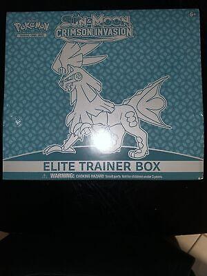 Pokemon TCG Sun & Moon Crimson Invasion Elite Trainer Box NEW Factory Sealed