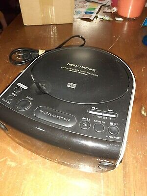 Sony CD Clock Dream Machine ICF-CD815 AM FM Radio Dual Alarm AUX Input CD Player