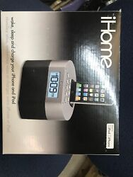 ***iHome iP23 iPhone iPod Docking Dual Alarm Clock Expanded EXB Bass Sound***