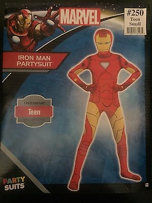 Iron Man Party Suit Marvel Bodysuit Fancy Dress Teen Small up to 4'5