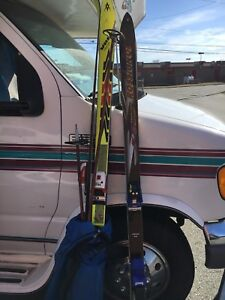 Three pairs of skis for sale