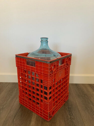 Vintage Sparkletts Water Carboy 5 Gallon Glass Jug & Crate #5