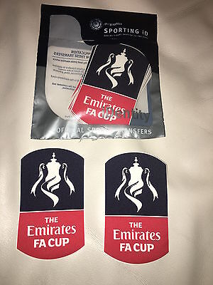 Southampton Emirates FA Cup 2018 Shirt Sleeve Patches - 100% Genuine Sporting iD