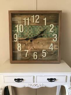 Gorgeous large square wall clock. Coastal or Balinese decor. Berry Shoalhaven Area Preview