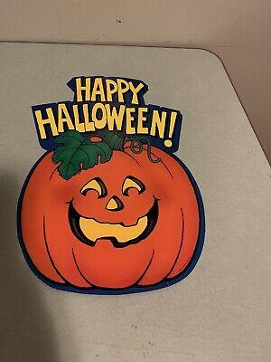 Vintage Halloween Hallmark Happy Halloween Die Cut Cardboard Decoration 1981
