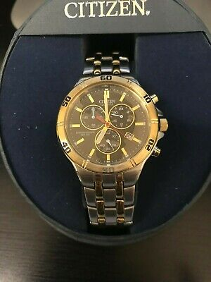 NEW* Citizen Mens Quartz AN7074-58E Stainless Steel Two-Tone Metal Band watch
