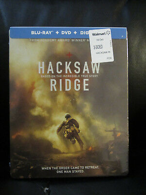 Hacksaw Ridge Blu-Ray + DVD + Digital HD Steelbook Sealed Mint New WW2 Action for sale  Fremont