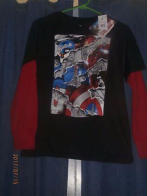 Children's Marvel Captain America T-Shirt  XL  NWT