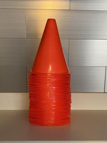 lot of 36 orange plastic cones 7