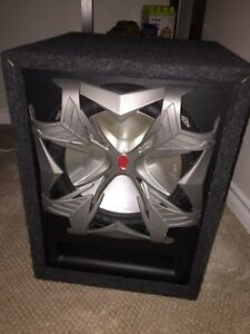 "12"" Subwoofer & Amplifier with Vented Box"