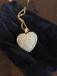Necklace Swarovski Crystal Heart Wellington Point Redland Area Preview