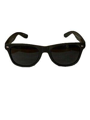 Matte Soft Touch ULTRA super Extra DARK Black Sunglasses MEN Nerd Geek (Touch Sunglasses)