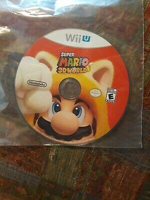Super Mario 3D World (Wii U, 2013) disc only