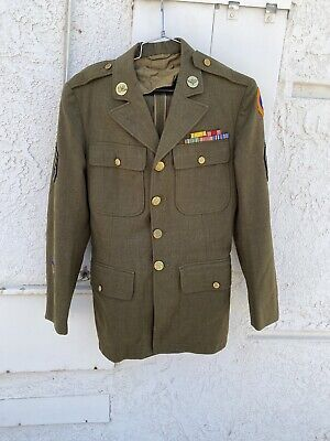 Ww2 ? Us Army Officers Tailored Infantry Majors Jacket Navy Air Force