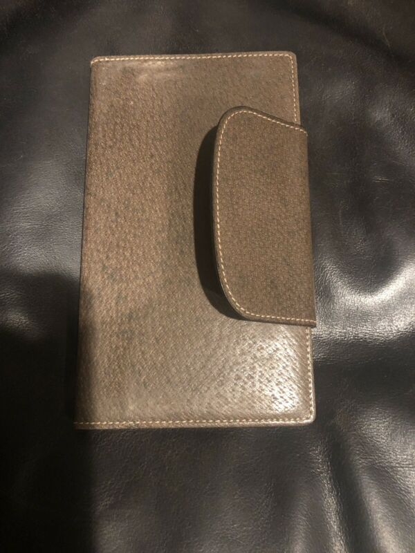 Authentic GUCCI Brown Leather Agenda Day Planner