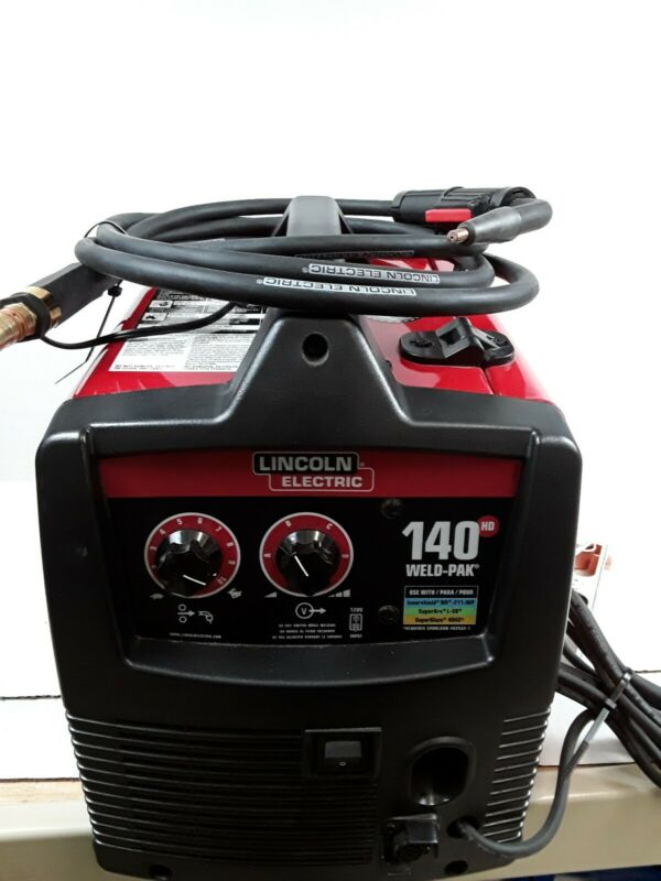 Lincoln Electric Weld-Pak 140HD Wire Feed Welder w/Carry Case !! NICE !!