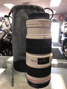 Lentille canon 70-200 f/4 is usm