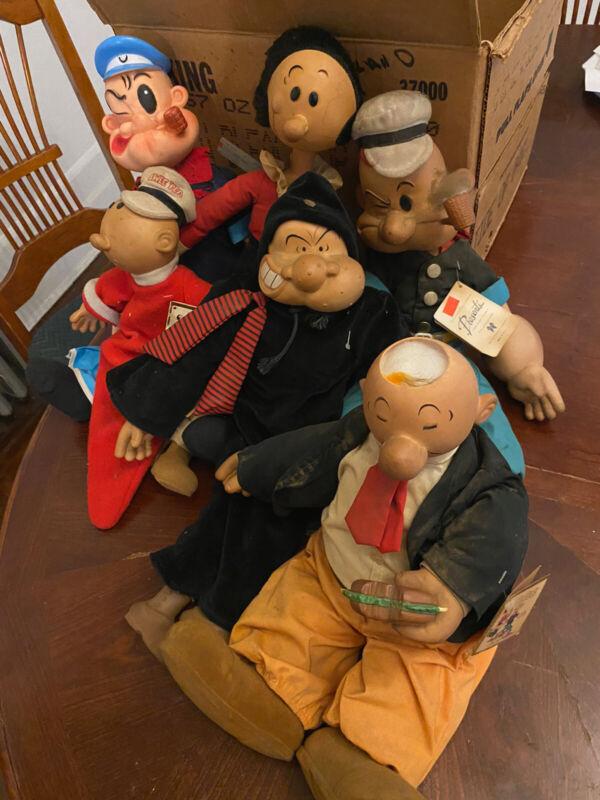 Popeye Presents Lot Of 6 Figures