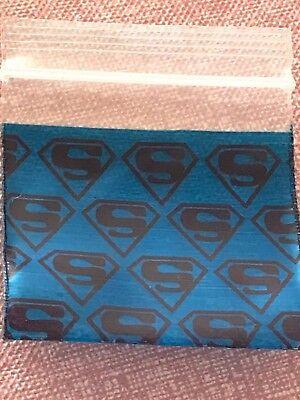 200 Small Baggies 1515 1.5 X 1.5 Mini Zip Lock Poly Designer Bags Superman
