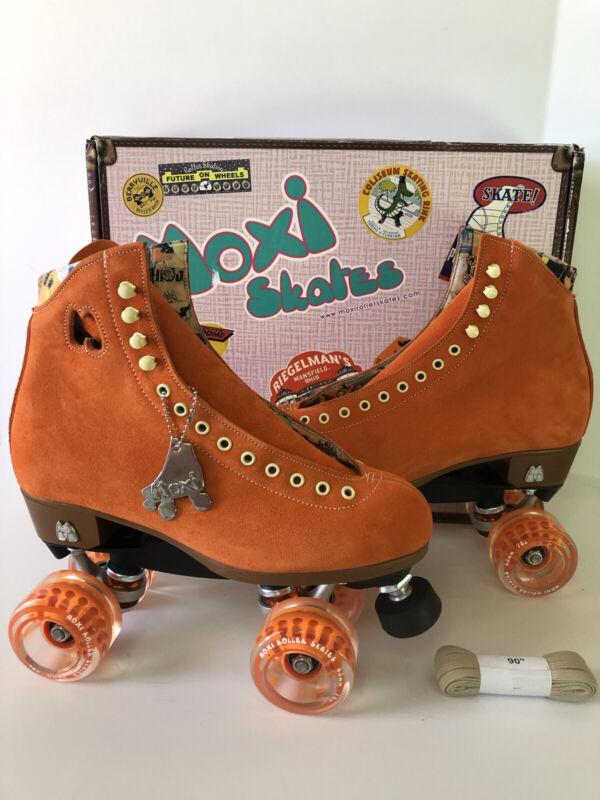Moxi Lolly Clementine Orange Roller Skates Size 8 (Women's 9-9.5) Brand New!