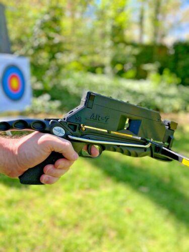 Pistol Crossbow Autoloader Kit (7 Shot Mag, Built-in Laser Sight & Speed Loader)