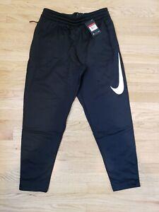 43b38f2263f8 NEW Men s Nike Therma Swoosh Training Dri Fit Pants Tapered AQ2715 Black  Large