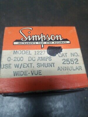 Vintage Simpson Dc Amps Meter Gauge 0-200.. No Shunt Included
