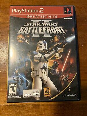 Star Wars Battlefront II PlayStation 2 PS2 Video Game  Greatest Hits - Tested ✔️