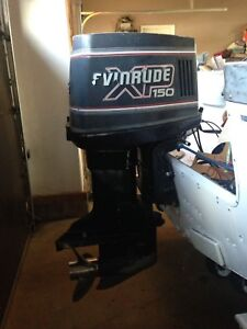 Evinrude 150  V6  stainless prop controls $1900
