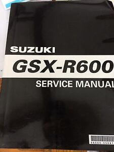 2001 2002 Suzuki GSXR600 Service Manual