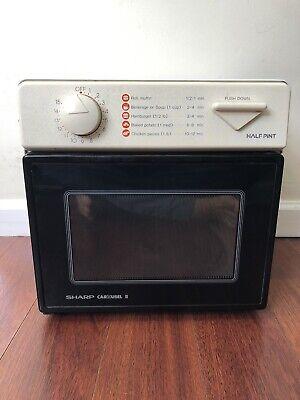 Sharp Carousel II 2 Half Pint Convection Microwave Oven RV Dorm Marine Home