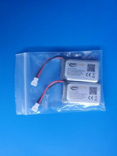2Pcs Keenstone 3.7V 720mAh 2.7Wh 20C  Lithium-Polymer Rechargeable Battery