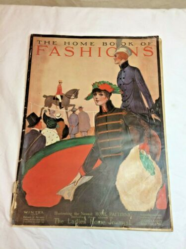 Antique 1914 The Home Book of Fashions Sewing Patterns Catalog Couture Designer