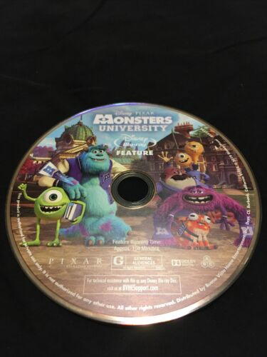 Monsters University Disney Pixar Blu Ray Disc Only - $5.00